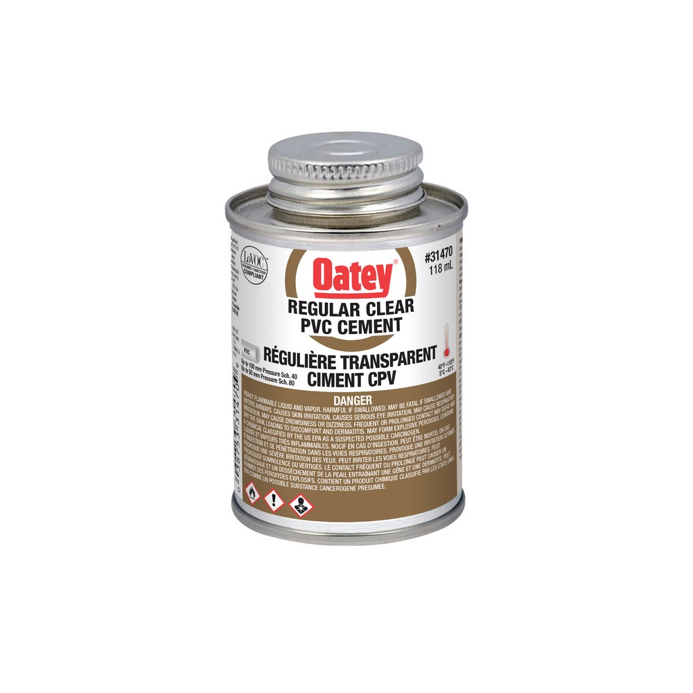 OATEY CLEAR CEMENT QUART