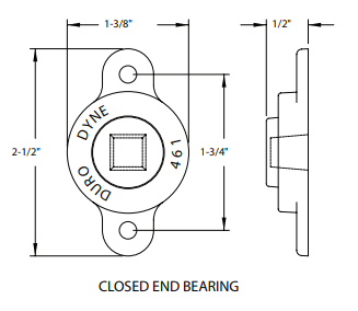 1/2 CLOSED END BEARINGS