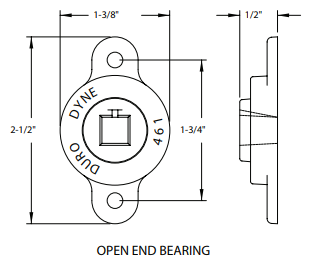 1/2 OPEN END BEARINGS